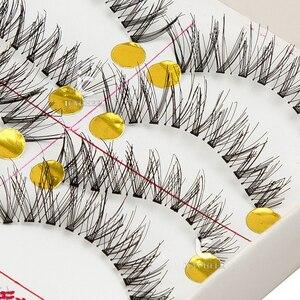 Image 5 - رموش صناعية من ICYCHEER تحتوي على 10 أزواج من شعر المنك الطبيعي/الكثيف رموش طويلة للعين أدوات تمديد مجنحة للمكياج فوضوي