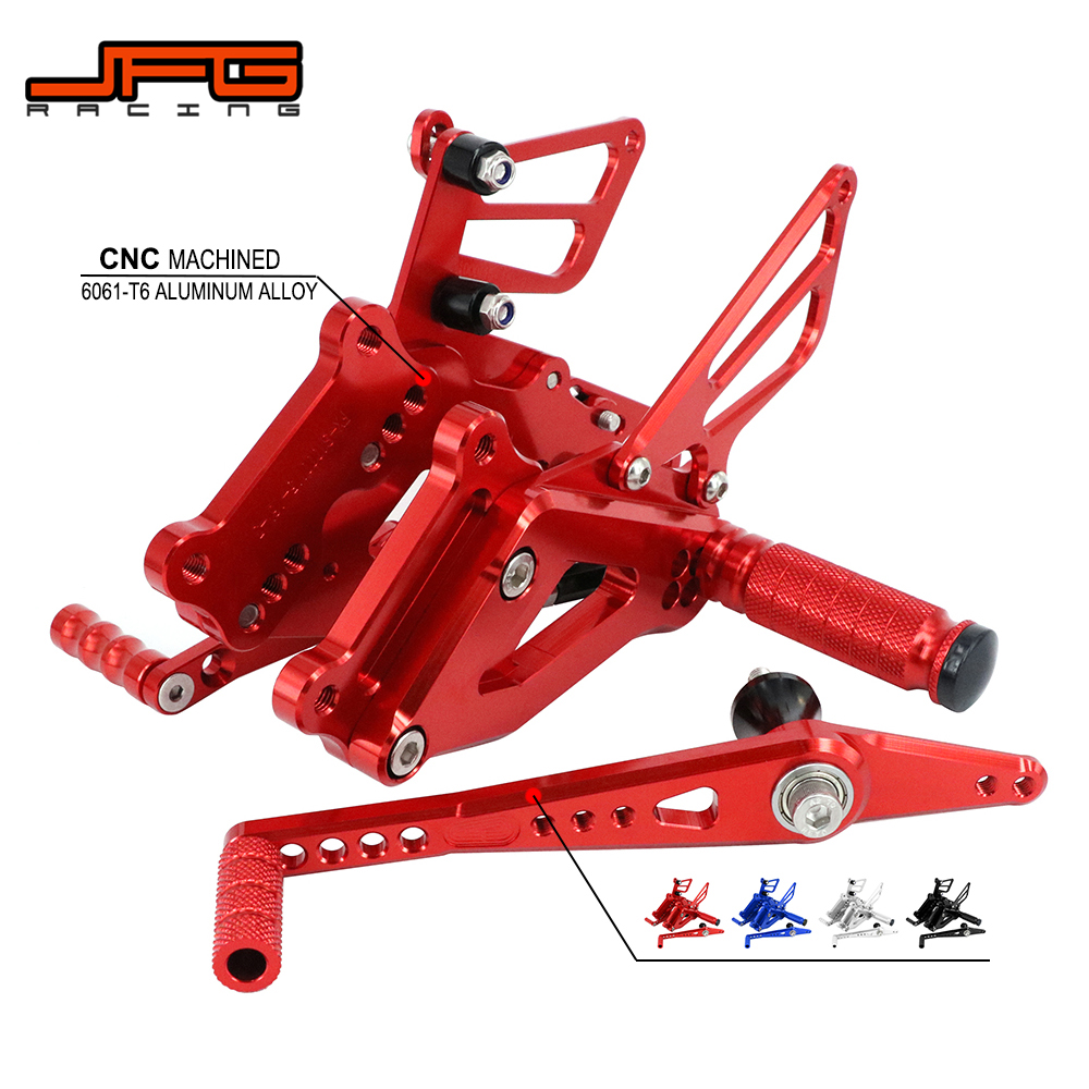 Motorcycle Aluminum CNC Adjustable Footpegs Foot Pegs Pedals Rest Rearset For BMW S1000RR S 1000 RR 2015 2016 2017 Street BikeMotorcycle Aluminum CNC Adjustable Footpegs Foot Pegs Pedals Rest Rearset For BMW S1000RR S 1000 RR 2015 2016 2017 Street Bike