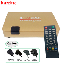 RF to HDMI Converter Analog TV Receiver Adapter With Remote