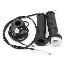 """1 пара 7/"""" 22 мм мотоциклетная дроссельная заслонка рукоятка корпус с кабельной рукояткой для 90 110 125CC Мини-Байк Quad карманный ATV"""