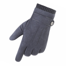 Suede mens gloves autumn and winter windproof warm touch screen add velvet thickening comfortable telefingers 0303