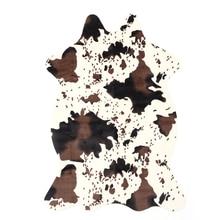 Faux Cowhide Rug Animal Pattern Carpet Cow Print Rug For Bathroom Living Room Skins Doormat Home Textile Black White