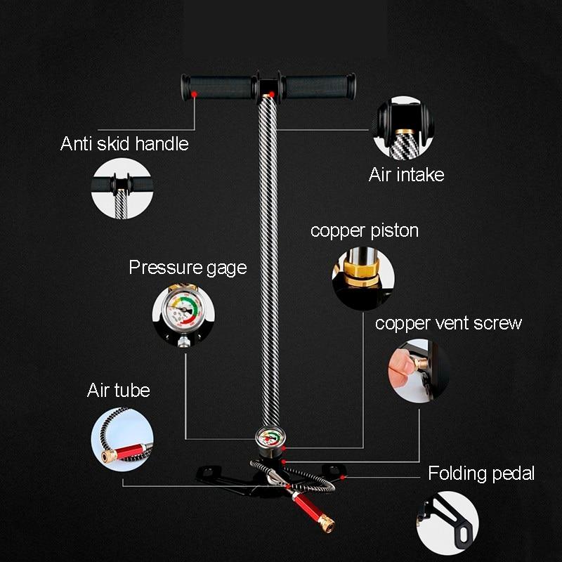 Image 5 - High Pressure Tire Air Pump 300bar 30mpa 4500psi 3 Stage Hand Pcp Pump For Air Rifles Air Gun Paintball,Air Compressor,inflator-in Pumps from Home Improvement