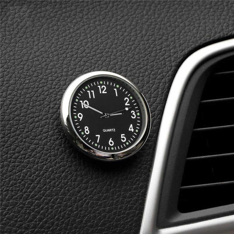 Mini bolso de quartzo pequeno relógio analógico luminoso vara no relógio para carro clipe de ar relógio barco bicicleta estilo do carro interior relógio