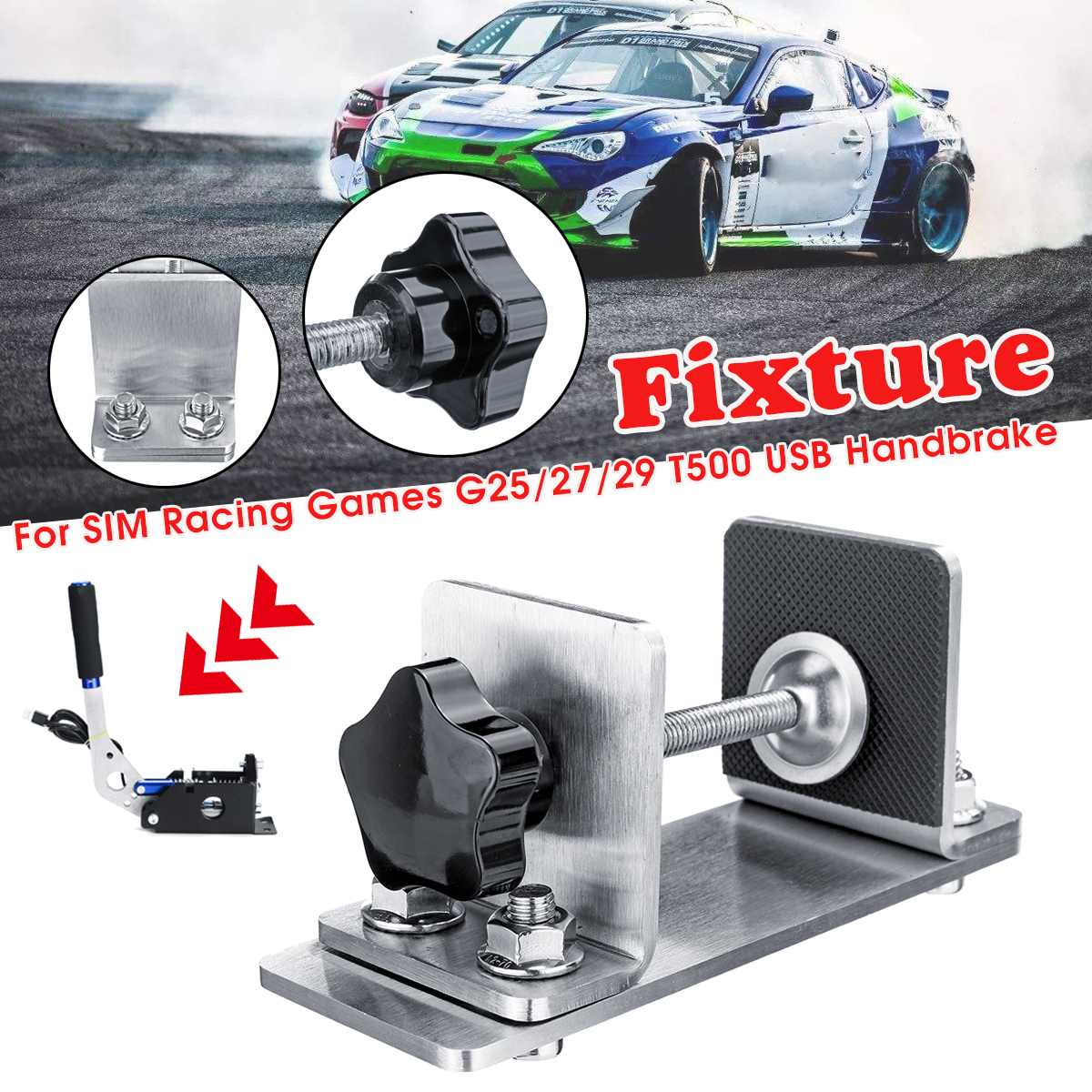 USB Handbrake Fixture Clamp PC Windows for Sim Racing Game for G25 G27 G29 T500 DIRT RALLY image