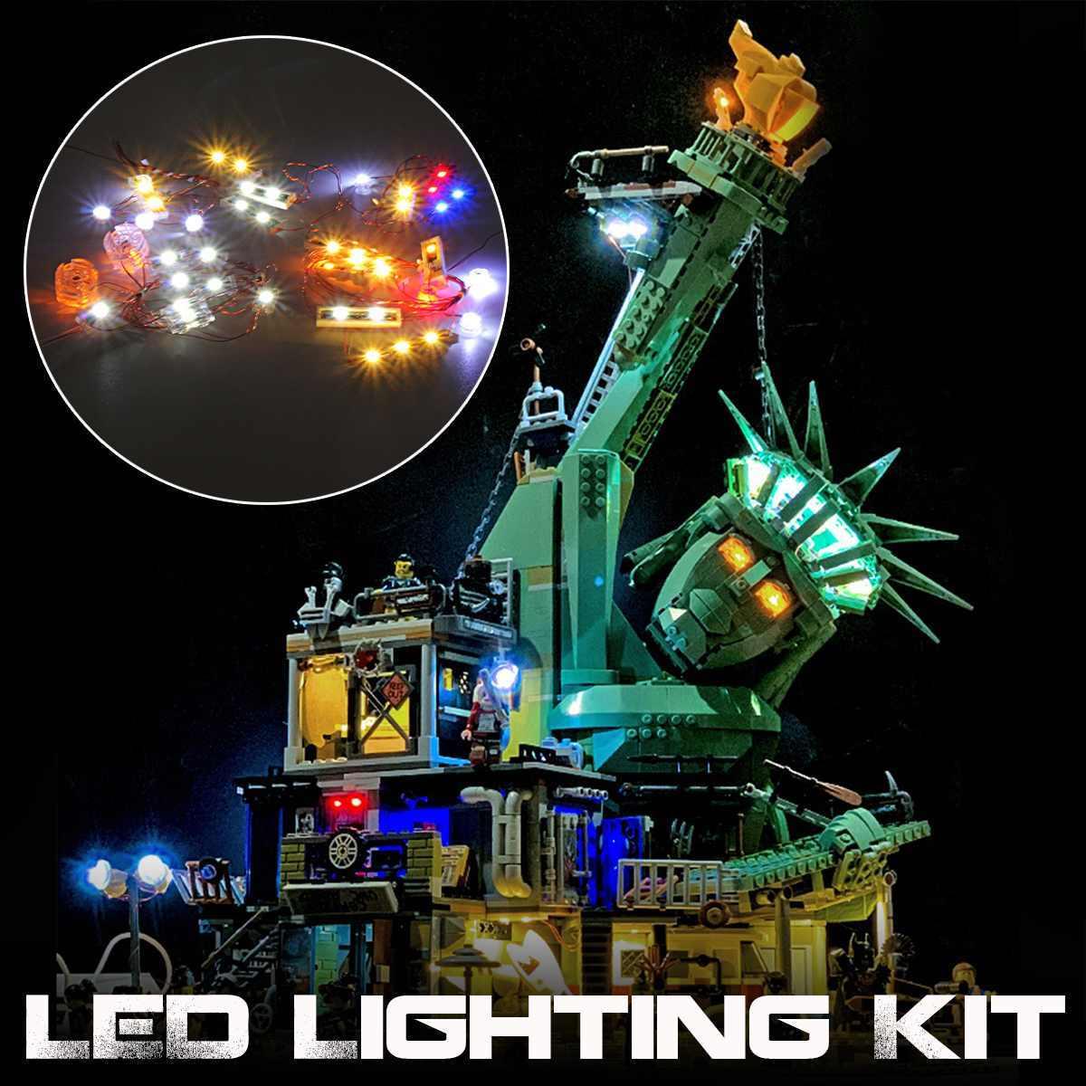 D światło dla APOCALYPSEBURG kompatybilny Legoings 70840 Building Blocks zestaw Bricks klasyczne Big Movie modelu zabawki
