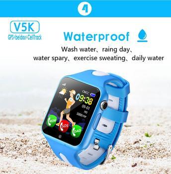 الأطفال ساعة تعقب الساعات مقاوم للماء SOS دعوة الموقع كاميرا مكافحة خسر جهاز تعقب رصد ساعة ذكية لتتبع الأطفال V5K