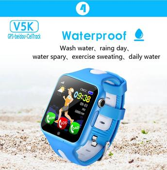 Children tracker watch watches waterproof SOS Call Location camera Anti-Lost Device Tracker Monitor baby watch V5K