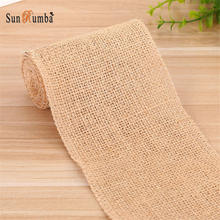 5/10/15/30CM*10M Jute Burlap Hessian Fabric Mariage Home Decoration DIY Event Party Supplies Jute Table Runner Cloth Wedding wedding party lace vintage jute table runner burlap fabric for burlap chair sashes burlap ribbon wedding decor supplies 15 240cm