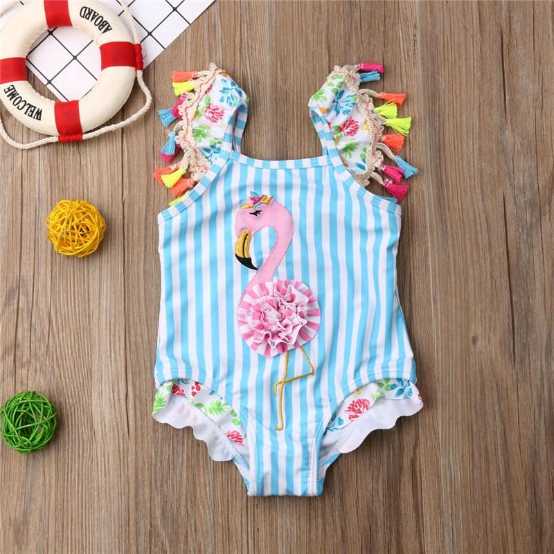 Summer Clothing 6M 5T Newborn Kid Baby Girls Bikini Swimwear Swimsuit Tassel Cute Bathing Suit -3802