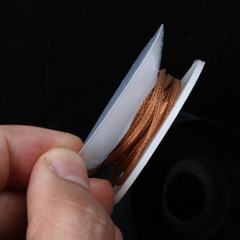 1.5m 2.0mm Solder Wick Flux Wick Cable Desoldering Braid Solder Remover Sucker Wick Flux Pure Oxygen-free Copper Wire Cable