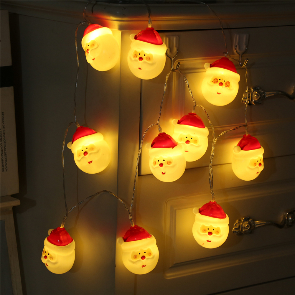 Fairy Lightsfairy LightsSanta Claus String Light 1.5M-10M,10L/20L/40L/96L,3AA/31V US/EU Room Weding Party Wall Window Home Dec Children Night Lamp