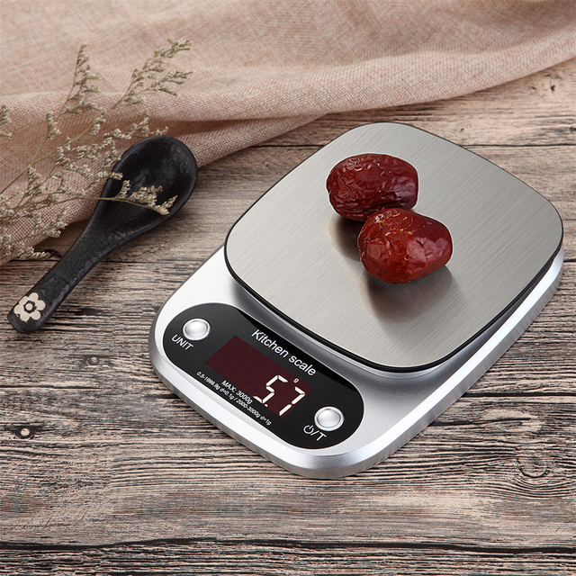 LCD Electronic Stainless Steel Digital Kitchen Scales 10kg/1g