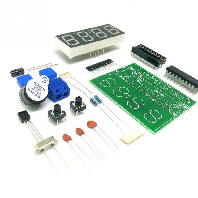2018 4 Digital Electronic Clock Microcontroller Digital Clock DIY Electronic Production Kit Parts