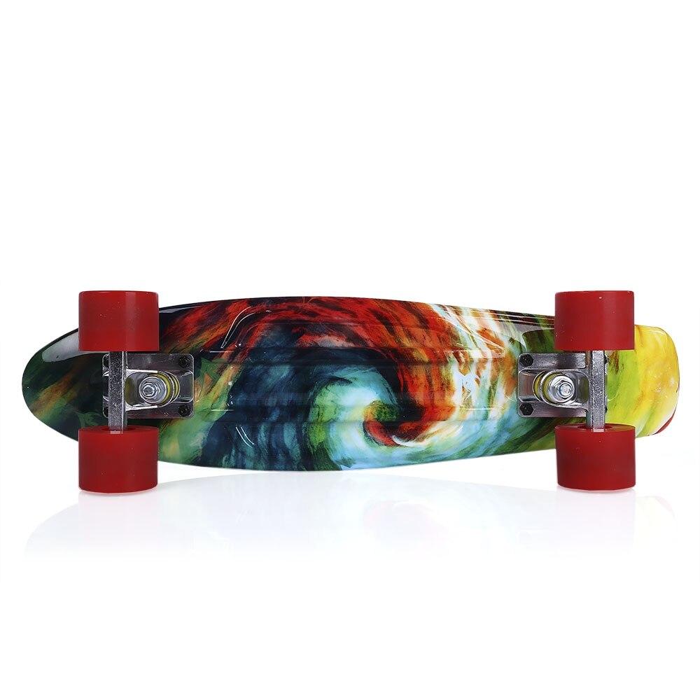 Quatre roues 22 pouces Mini Cruiser Skateboard rue longue planche à roulettes Sports de plein air PP dérive planche plate-forme pour adultes enfants - 4