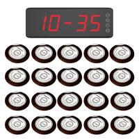 Singcall 무선 호출 경보 호출 시스템. 20 테이블 벨 버튼 ape700 흰색 및 1 디스플레이 화면 수신기 SC-R50