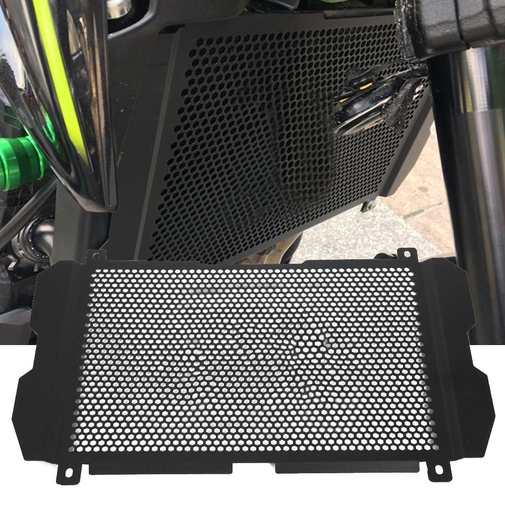 Black Motorcycle Radiator Grille Guard Cover Cap for Kawasaki Z900 2017 2018 2019 with logo Aluminum