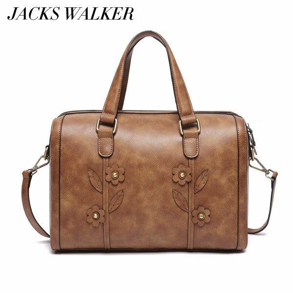 Sac de voyage femme grand fourre-tout en cuir sac à main Vintage fleur luxe sac à main dames affaires sac à bandoulière sac Shopper