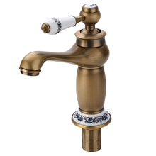 1pc Antique Single Handle Single Hole Brass Faucet Kitchen Hot & Cold Mixer Tap Mayitr High Quality Bathroom Faucet quality cu59 brass kitchen faucet hot and cold single hole 700g