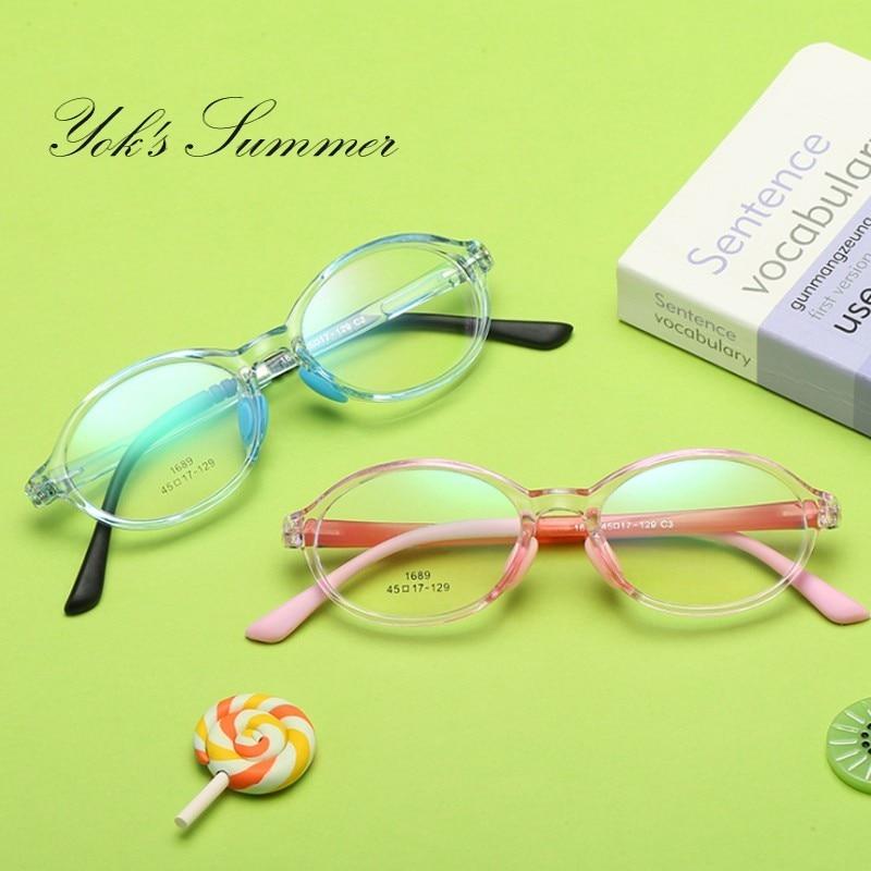 Vintage Round TR90 Kids Glasses Fashion Student Prescription Eyewear Frame Ultralight Transparent Myopia Spectacle CN1166
