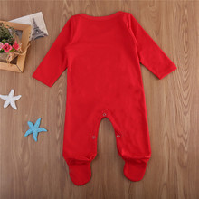 Baby letter romper first baby christmas clothes red