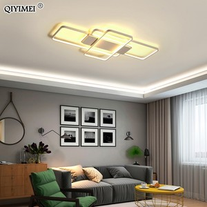 Image 2 - 디밍 LED 천장 조명 게시물 현대 스타일 거실 연구실 장식 전등 갓 천장 조명 lamparas de techo