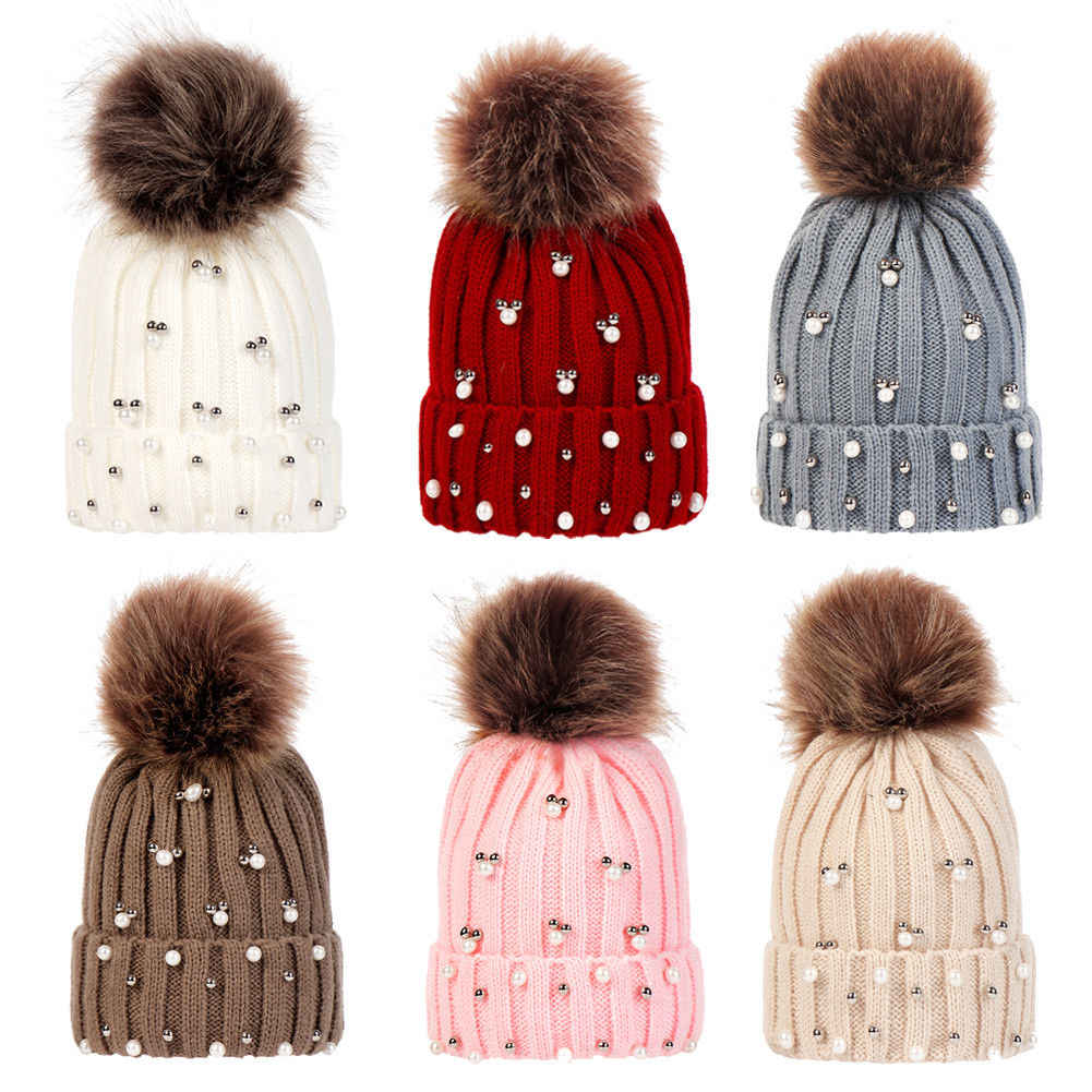 5d9c52ce4e7 Detail Feedback Questions about 2019 Newborn Baby Boy Girl Beanie Hat Cap  Crystal Winter Warm Pom Pom Bobble Knit Beanie Hat Kid Cap on  Aliexpress.com ...
