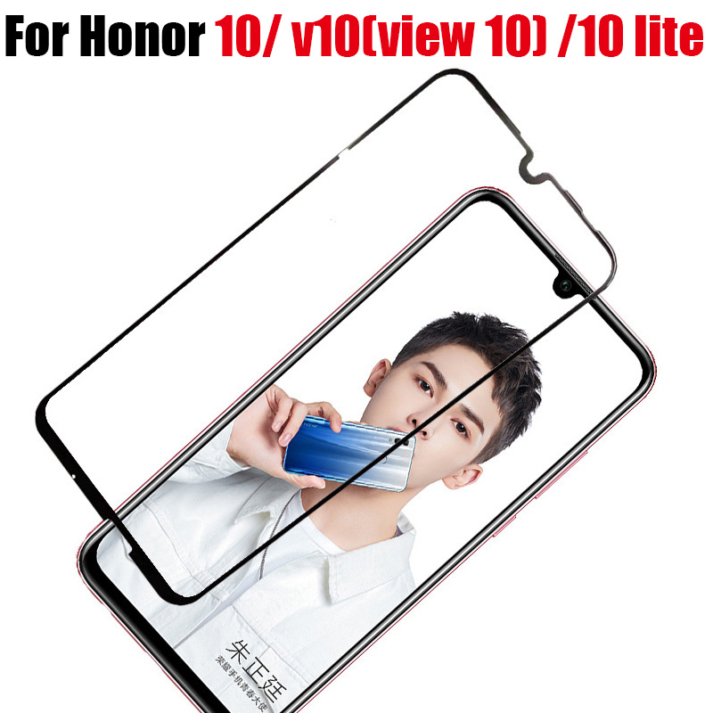 Tempered Glass On For Huawei Honor 10 lite light Screen Protector Protective GLass On Honor View 10 V10 Full Cover tremped verre image