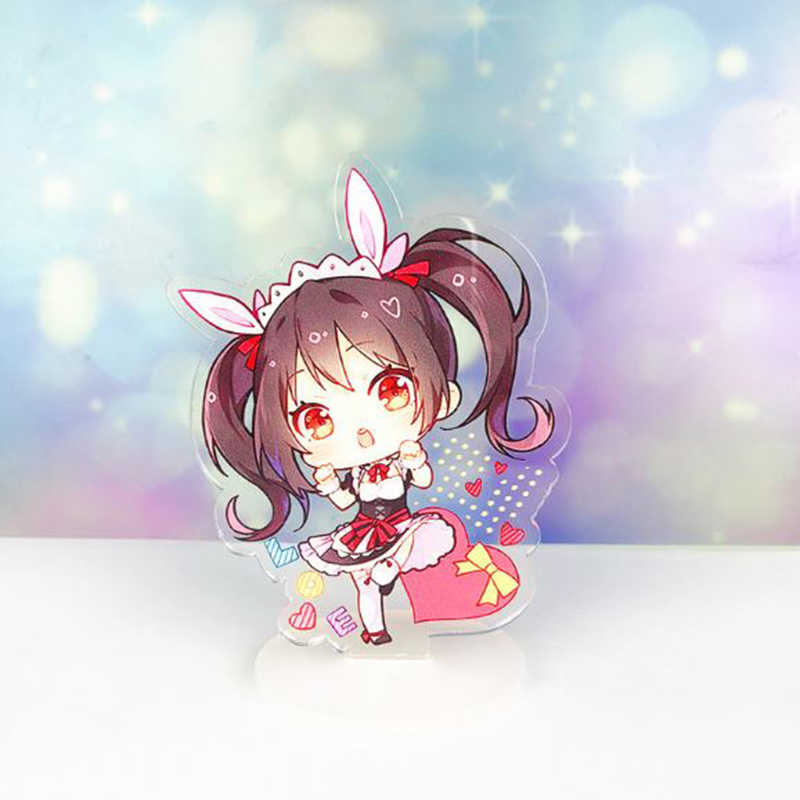 1 adet Sevimli Anime Lovelive Akrilik Standı Model Oyuncaklar Plaka Tutucu Action Figure Kolye Oyuncak Çocuklar Hediye