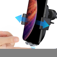 2019 Auto Accessories Wireless Charging Auto Car Charger Fashion Car Wireless Charger 10W Car Phone Mount Fast Charging Holder