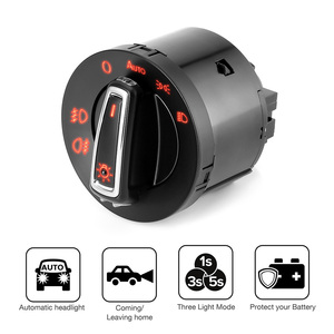 1pc Headlight Switch Light Sensor Module Upgrade New Auto Headlamp Switch For VW Golf Jetta MK5 6 Tiguan Touran Passat Polo Bora(China)