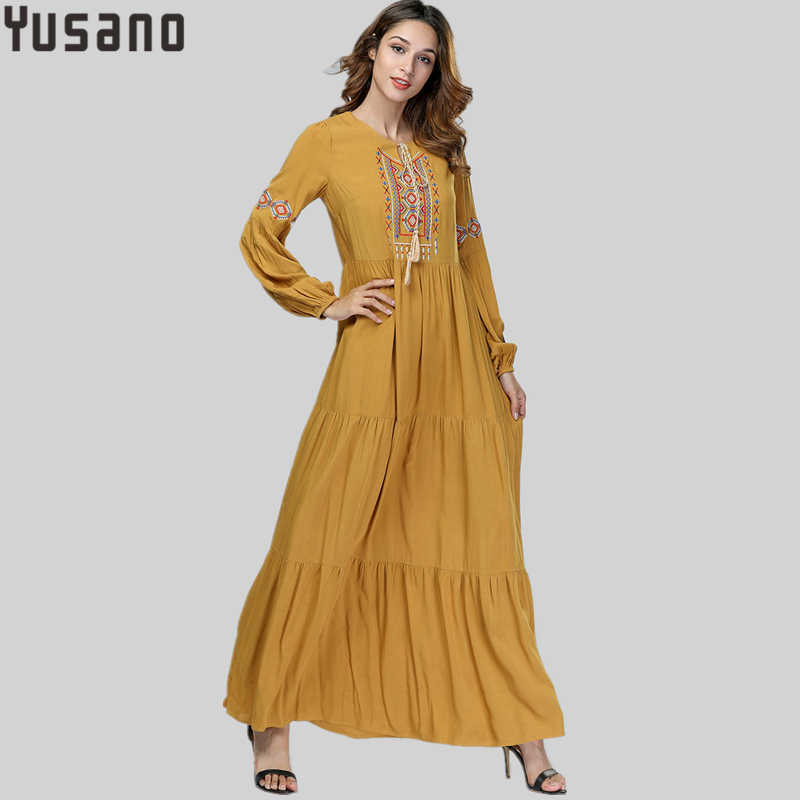 classic fit official photos hot sale Yusano Middle East Muslims Nightgown Long Sleeve Plus Size ...
