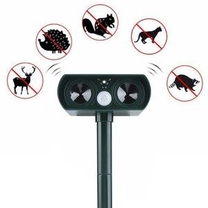 Image 1 - Garden Solar Ultrasonic Drive Pest RejectAnimal Bird Cat Dog Fox Repeller Repellent Built in Battery