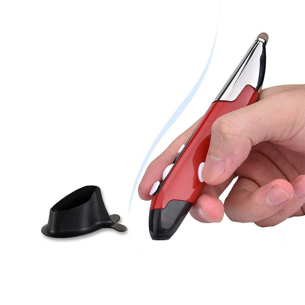 新ワイヤレス光学式ペンマウス 2.4 グラム 1600 Dpi 10 メートルプレス鉛筆 USB 人間工学マウスコンピュータのラップトップデスクトップ