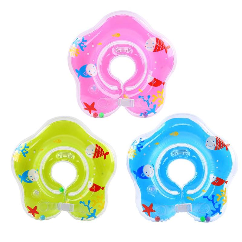Newborn Swimming Pool Accessories Baby Neck Float Circle Safety Infant Swimming Thicken Newborns Bathing Ring Inflatable Floats