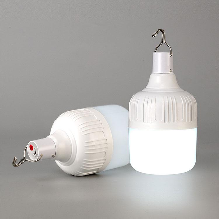 Ampoule extérieure LED rechargeable par usb lumières de secours lampe de tente Portable batterie lanterne barbecue Camping lumière pour Patio/porche/jardin