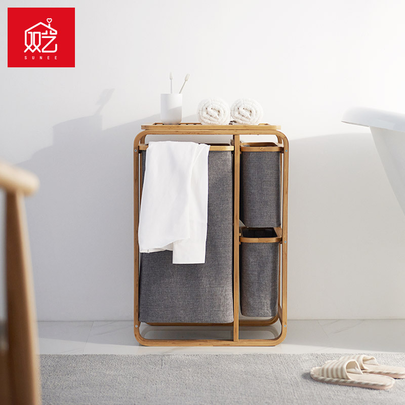 3 Gird de la cesta de ropa sucia cesta baño cesta de lavandería cesta de almacenamiento de organizador de ropa-in Bolsas y cestas de lavandería from Hogar y Mascotas    3