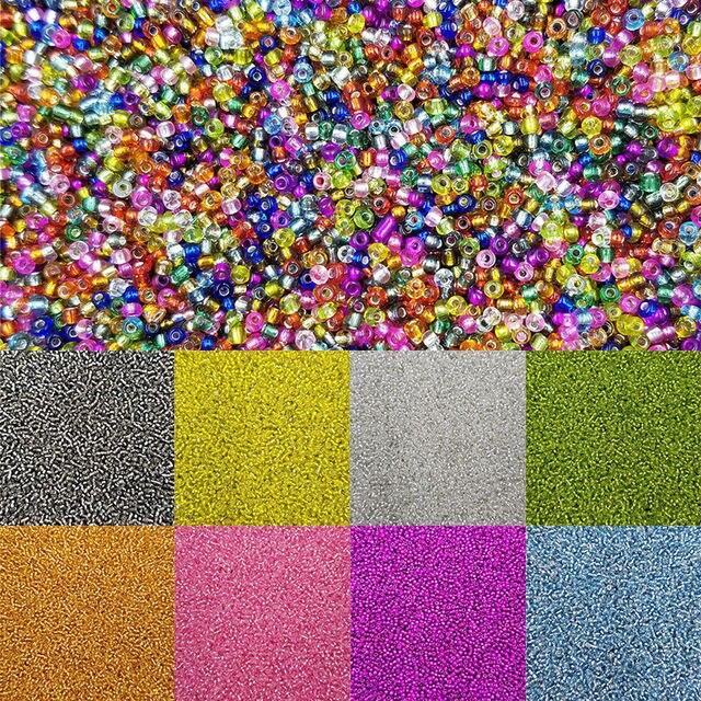 Для браслета DIY, ожерелье, стеклянные бусины, свободные бусины, новинка, 15 цветов, изготовление ювелирных изделий, 1000, шт./упак., высокое качество
