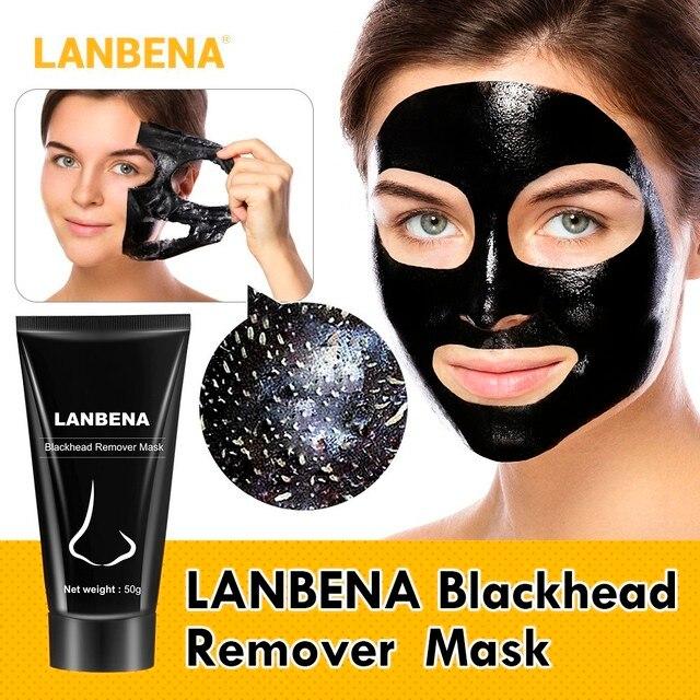 2018/La nueva lista LANBENA removedor de espinillas para la nariz máscara negra para el tratamiento del acné de la cara limpieza de acné