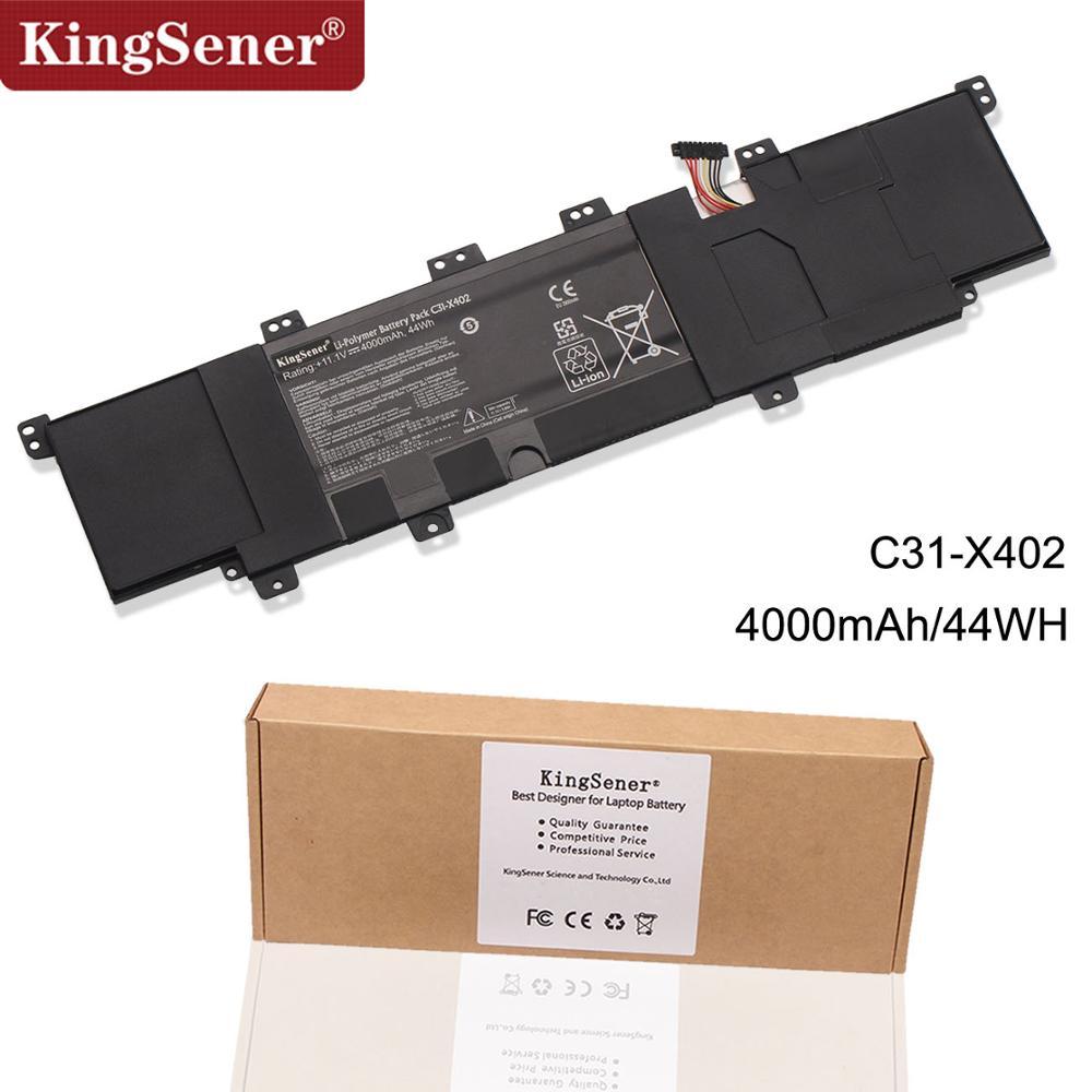 KingSener 11.1V 4000mAh New C31-X402 Laptop Battery for ASUS VivoBook S300 S400 S300C S300CA S300E S400C S400CA S400E C31-X402KingSener 11.1V 4000mAh New C31-X402 Laptop Battery for ASUS VivoBook S300 S400 S300C S300CA S300E S400C S400CA S400E C31-X402