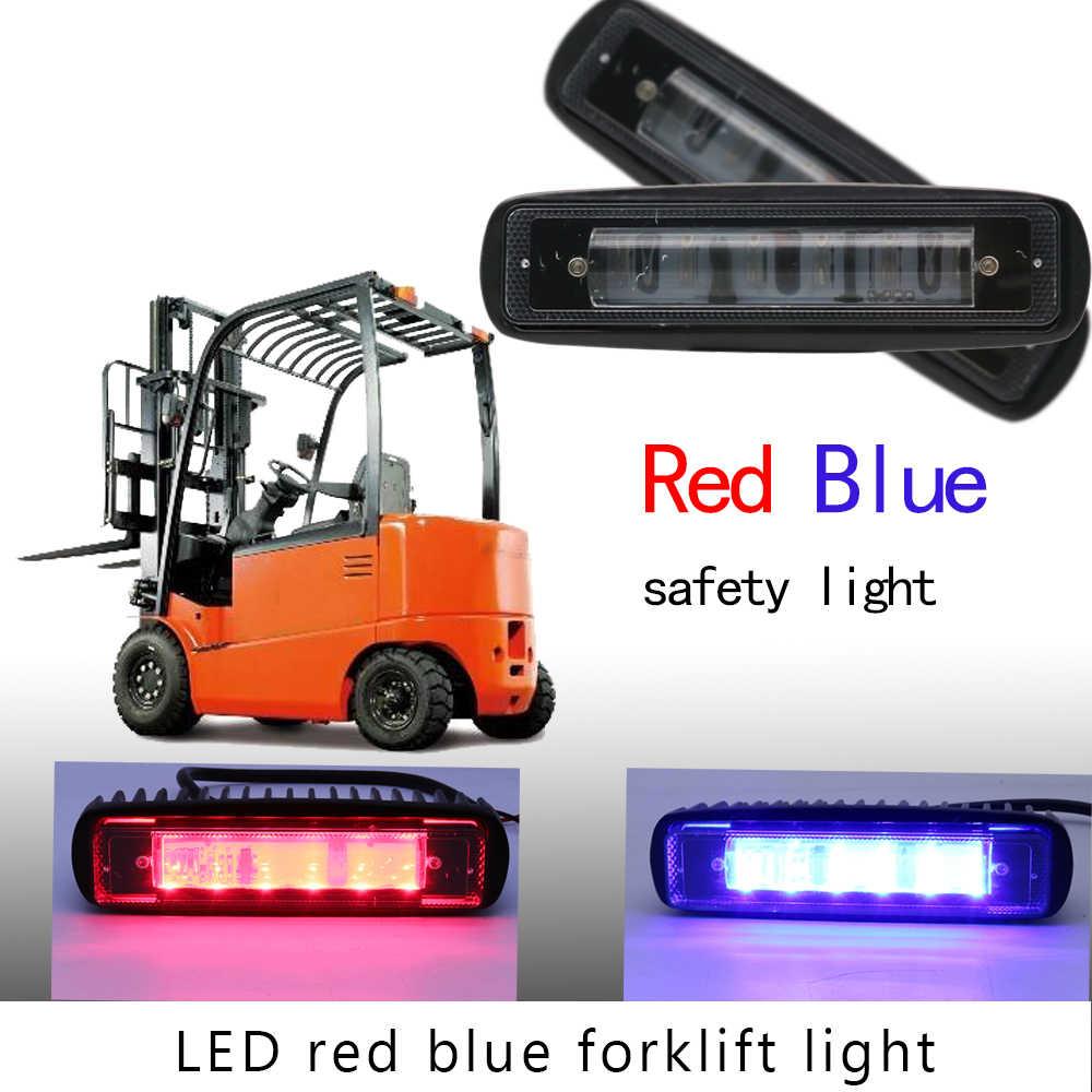 Blue Red LED Forklift Safety Light Spot Light Warehouse Safe Warning Light,  9V-60V Forklift Forktruck Blue Red Danger zone LED