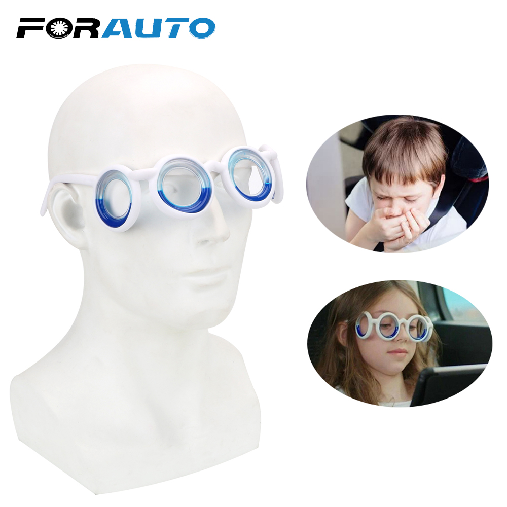 FORAUTO Anti-motion Sickness Glasses Unisex Smart Seasick Airsick Liquid Glasses Portable Removable Lens-Free Folding