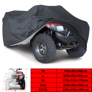 Universal Black 190T Motorcycle Waterproof Cover Quad Bikes ATV For Polaris Honda Yamaha Suzuki Size M L XL 2XL 3XL D15