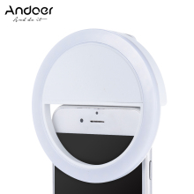 Andoer Selfie Light Portable Mini Clip on Fill in 36 LED Selfie Ring Light for iPhone X 8 7 Plus for Samsung Huawei Ringlight