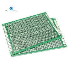 1 шт. 6*8 6X8 см двухсторонний Прототип pcb Универсальный макет печатная плата для Arduino 1,6 мм 2,54 мм Стекловолокно