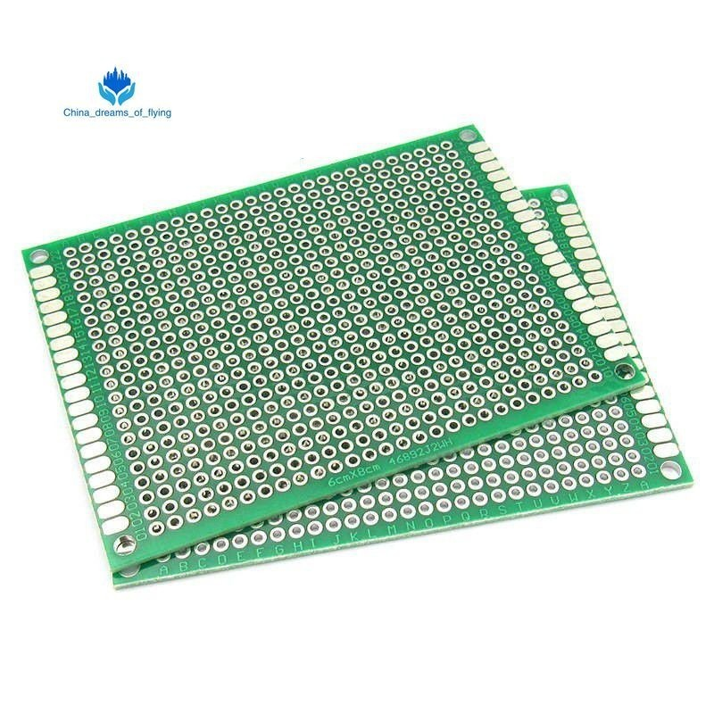 5Pcs Double Side Prototype PCB Bread board Tinned Universal 3x7 cm 30x70 mm