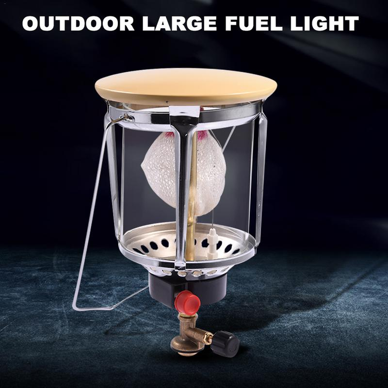 Large Outdoor Fuel Lamp Gauze Glass Cover Gas Lamp Portable Lighting Lamp Camping Light