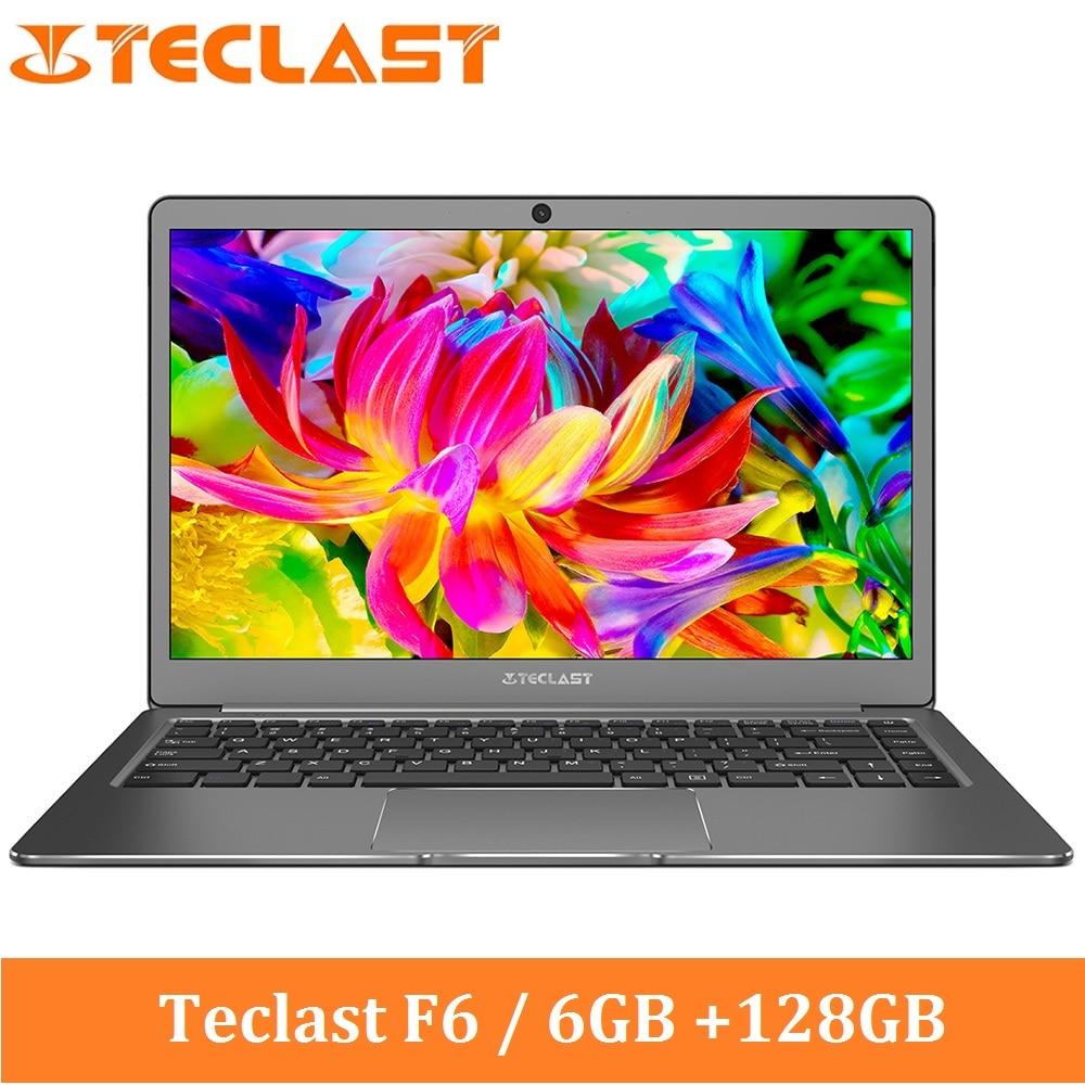 Teclast F6 Ordinateur Portable 13.3 pouces IPS Windows 10 Intel Apollo Lac N3450 Quad Core 1.1 GHz 6 GB RAM 128 GB SSD HDMI Portable 5000 mAh