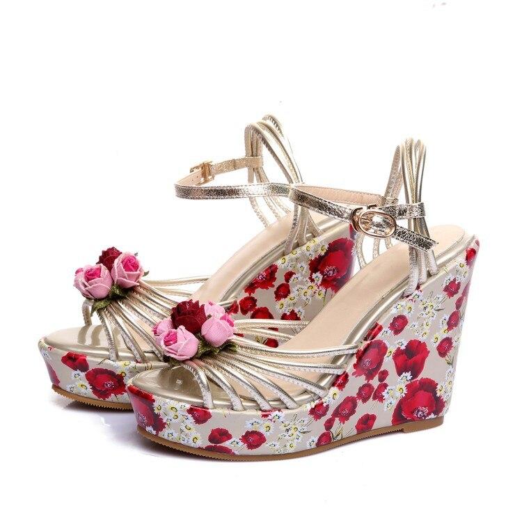 Moraima Mujer Nuevo De Diseño Zapatos Tus Serie Cuñas Flor Verano Primavera Snc 2019 En 7ymIY6vbfg