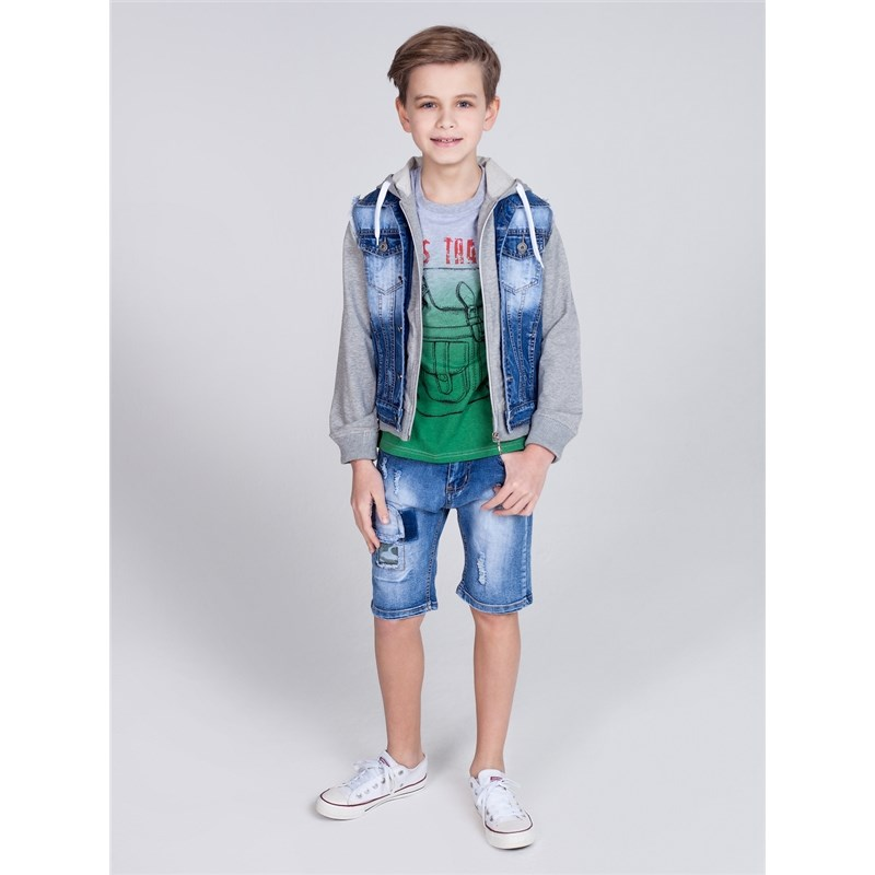 Shorts Sweet Berry Boys denim shorts children clothing men destroyed washed denim shorts